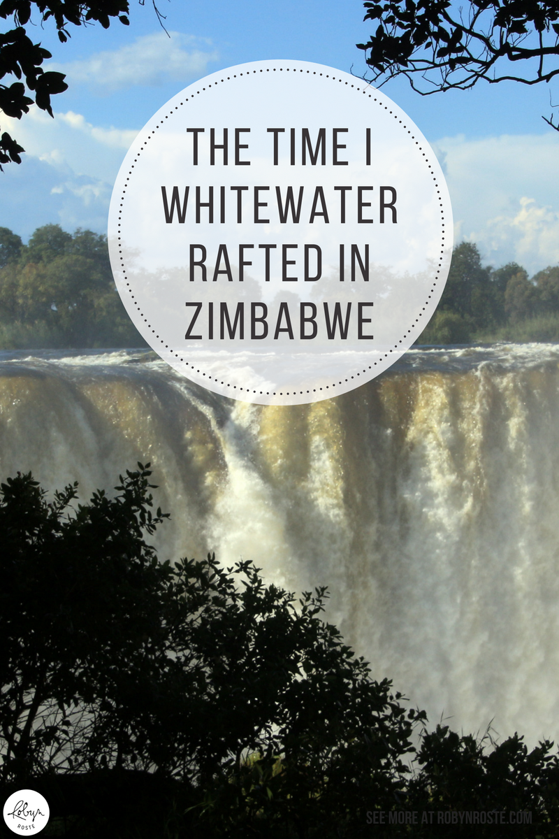 """As I stared over the fence into the Zambezi River I became convinced I was the dumbest person in the whole world and should go home immediately."" I never thought I'd whitewater raft let alone do it in Africa. Here's my story about the time I whitewater rafted in Zimbabwe. On the Zambezi River."