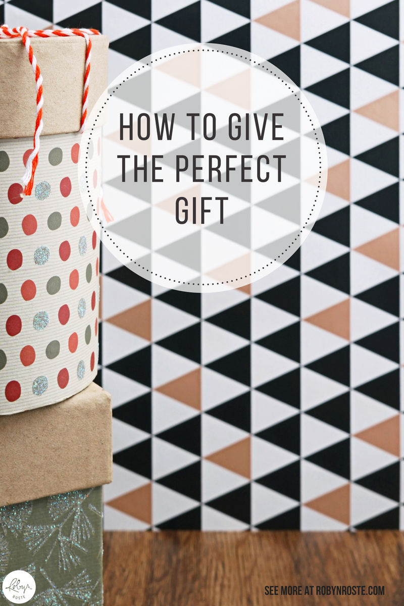 Does gift-giving stress you out? I've figured out how to give the perfect gift. No kidding. OK, a bit of kidding. But it might help. I love giving gifts. And giving the perfect gift is, like, the biggest high in the world. Unfortunately, when push comes to shove and I'm in panic-last-minute-gift mode, I crack.