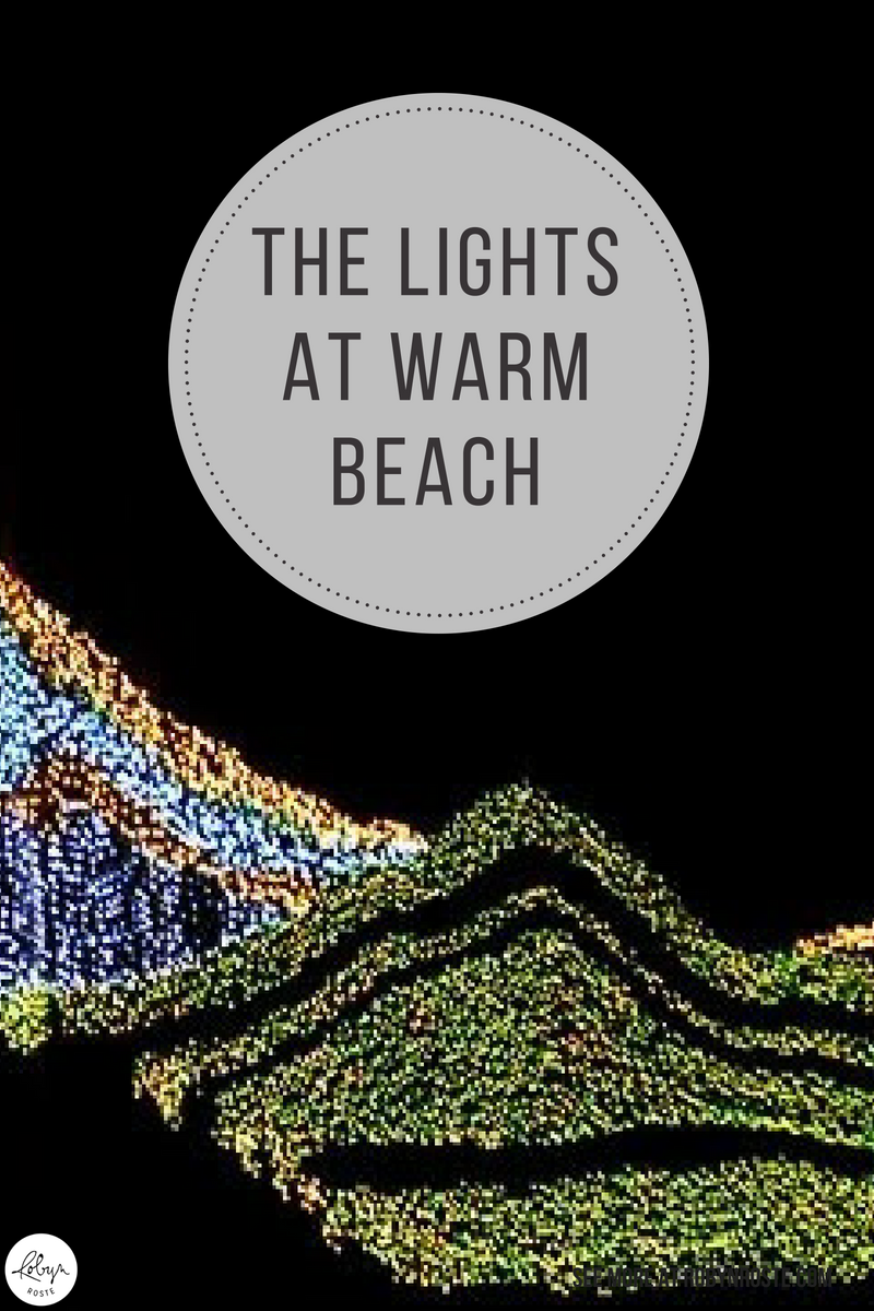 I went to The Lights of Christmas at Warm Beach and it was BUSY. Once the crowds came, things like personal space and indoor seating became a thing of the past. Which was OK, since there were 1,000,000 outdoor lights arranged in fanciful patterns to browse whilst waiting for the couches to become vacant.