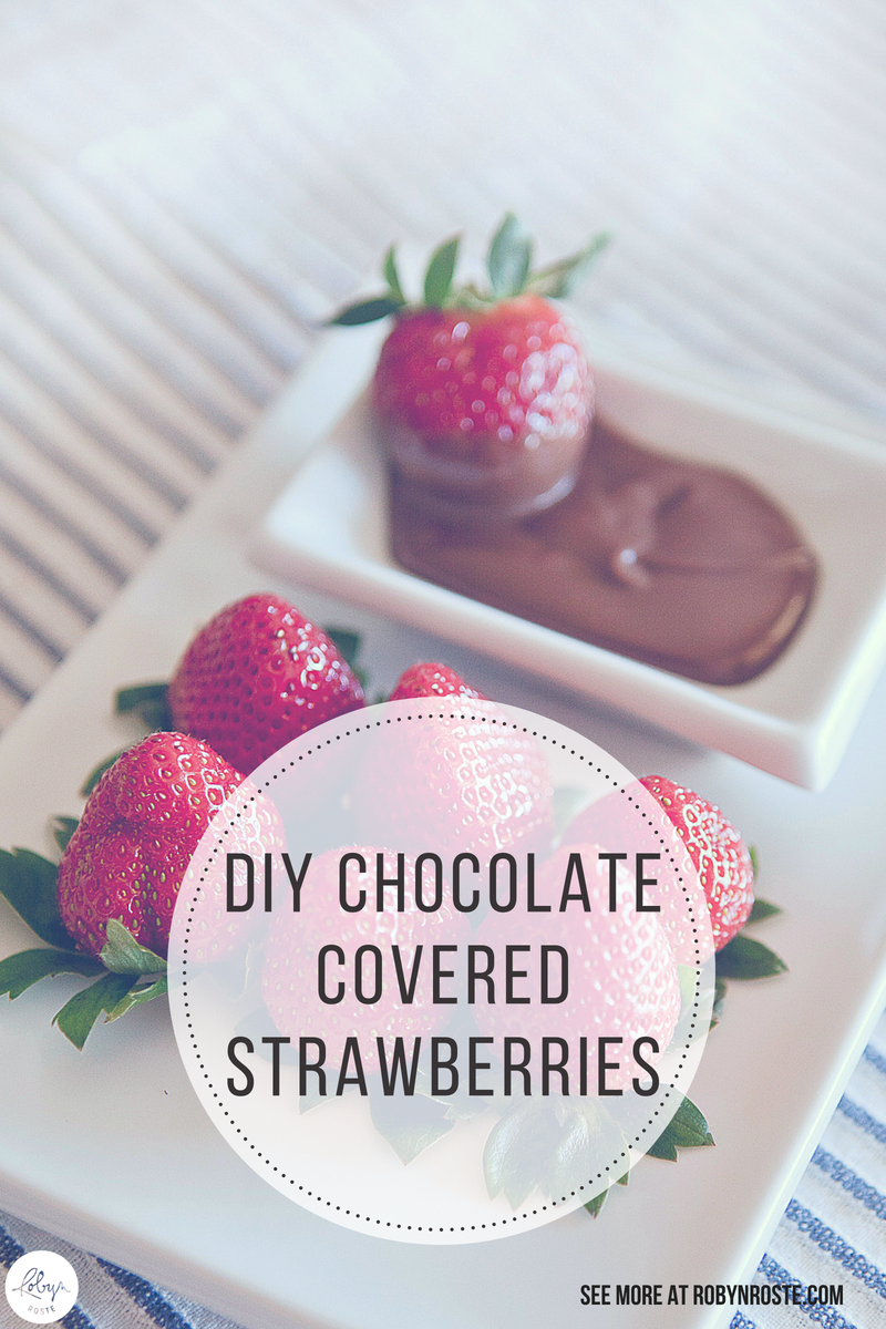 Chocolate covered strawberries. Now HERE is a gift idea everyone will love. It's delicious, there's no baking, and takes very little effort.