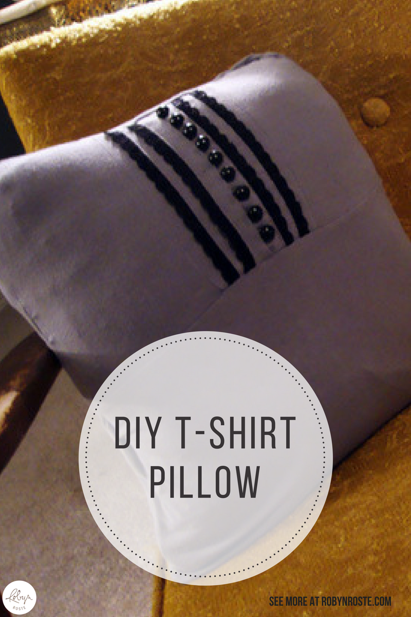 This is a quick and dirty tutorial for a DIY T-shirt pillow. Now, let it be known I'm a poor crafter but I think this project isn't half-bad!