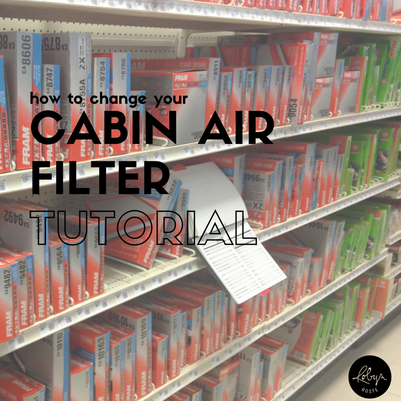 HOW TO CHANGE YOUR CABIN AIR FILTER TUTORIAL