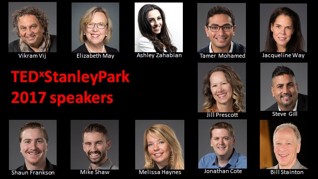 TEDxStanleyPark 2017 speakers list