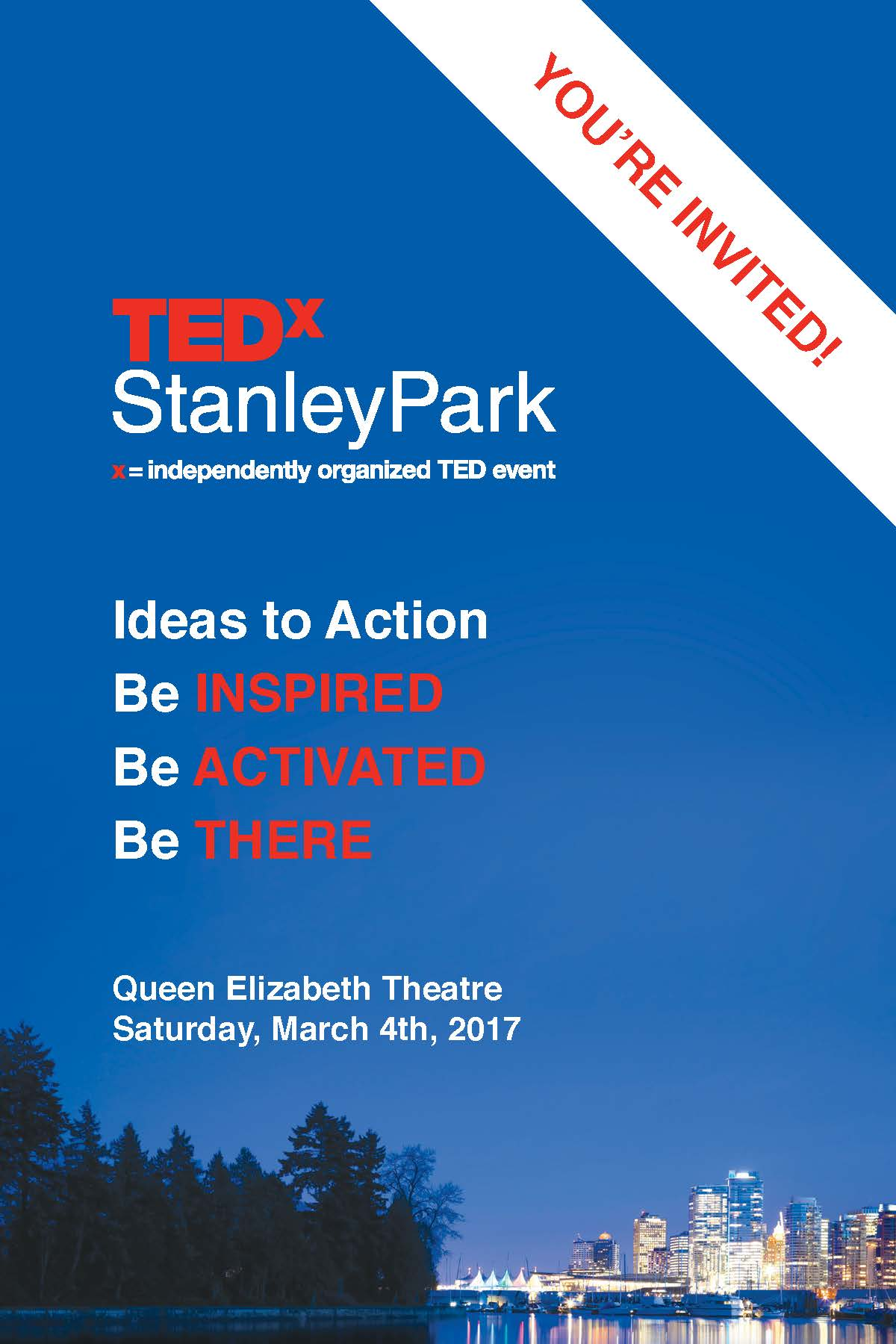 TEDxStanleyPark 2017 brochure