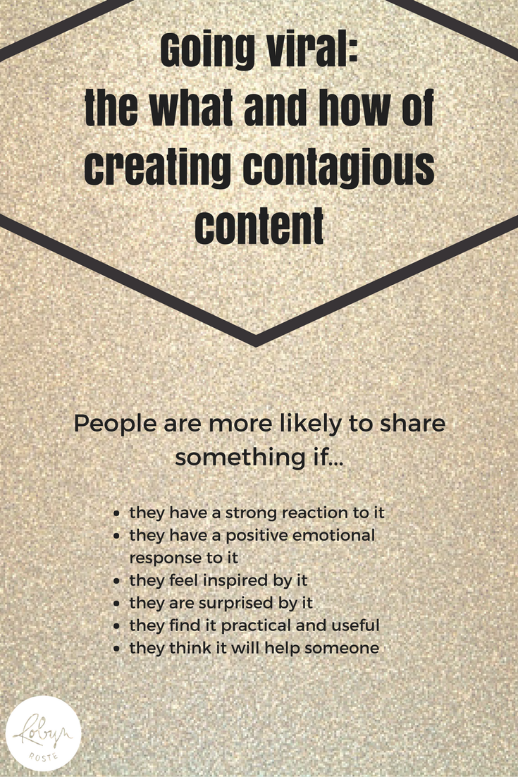 Going Viral: The What and How of Creating Contagious Content. Have you ever wondering what makes something go viral? Is there a secret? What do viral-video makers know that you don't? Learn the what and how of viral content and a few tips for what you can do to make your content more contagious.