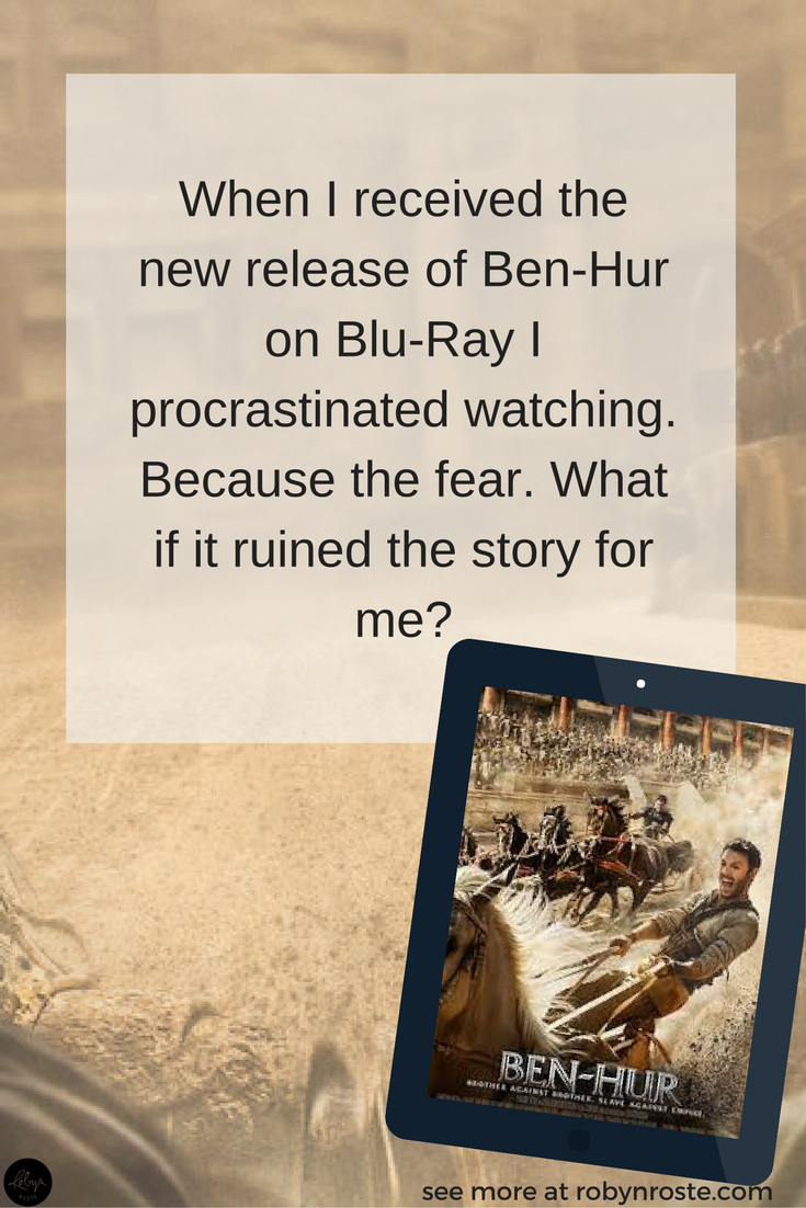 When I received the new release of Ben-Hur on Blu-Ray I procrastinated watching it. Because the fear. What if the chariot race was the only good part? What if the glitches stayed? What if it ruined the story for me?