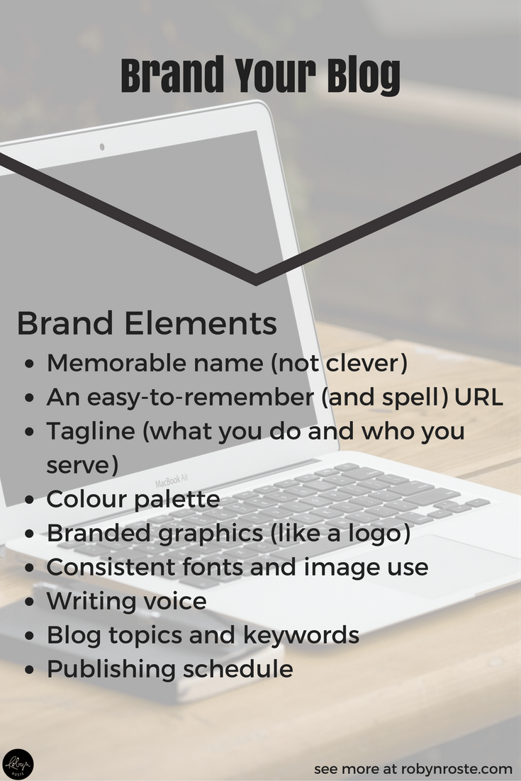 Branding is an interesting science mixed with art but there are consistent elements when you're looking to brand your blog. These are all things you'll need to think about, decide upon, and commit to if you want your branding to be solid.